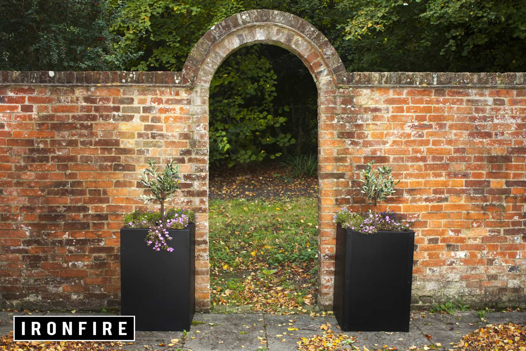 ironfire planters industrial style