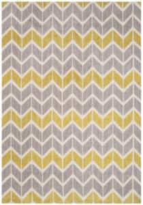 citrus geometric rug