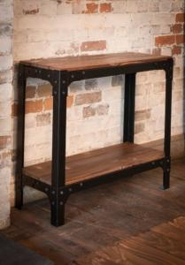 industrial console side hall table