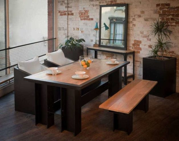 ironfire dining table & planter