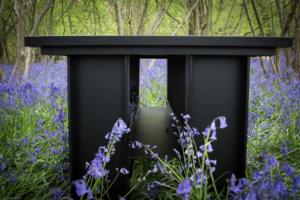 Dining Table Base in Bluebells - Lifestyle blog