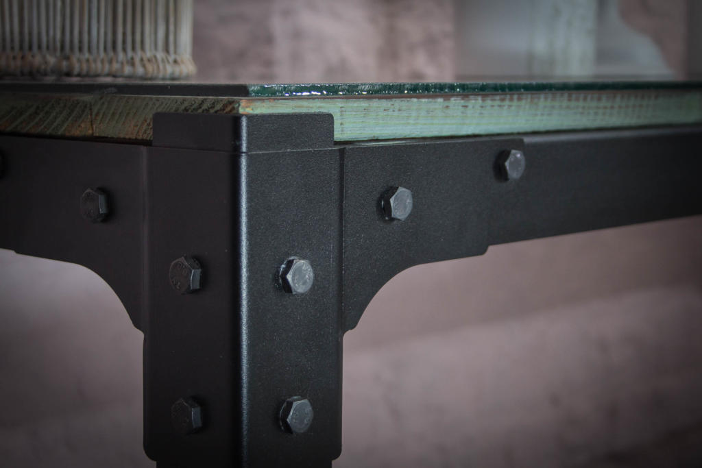 Console Table Glass Top View