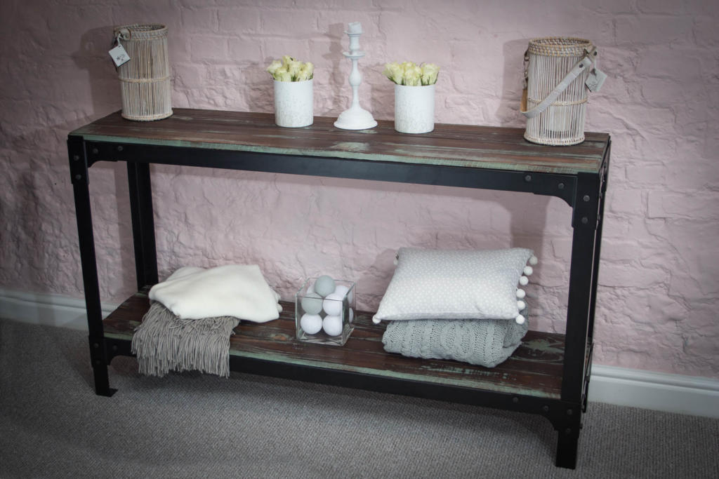IronFire Industrial Style Console Table