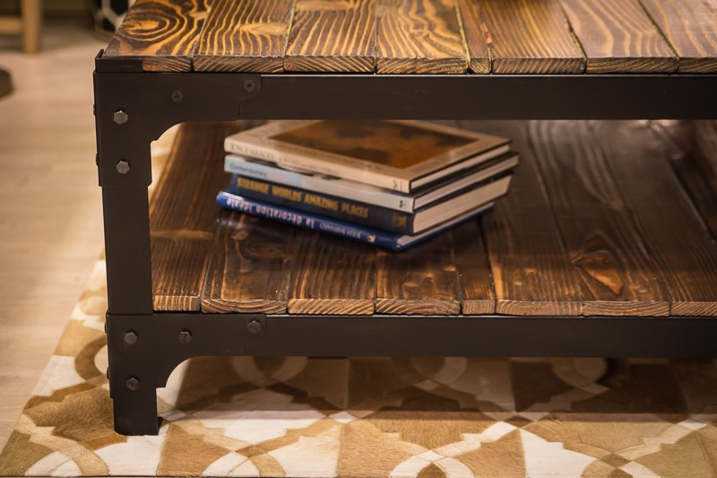 Industrial Style Coffee Table Close Up