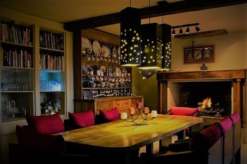 City scape Lights over kitchen table