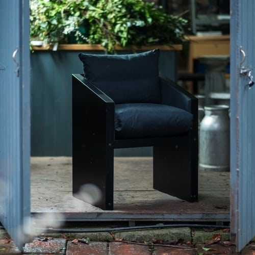 Garden or Dining Chair with Black Cushions