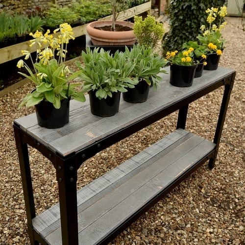 Outside Console Table as plant holder