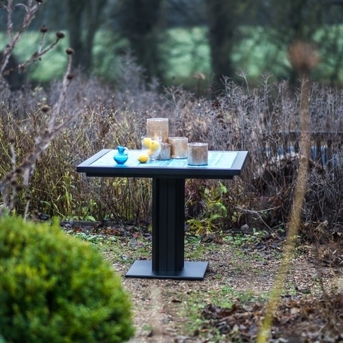 Ironfire Bistro table in the garden