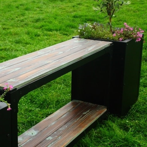Planter with console table