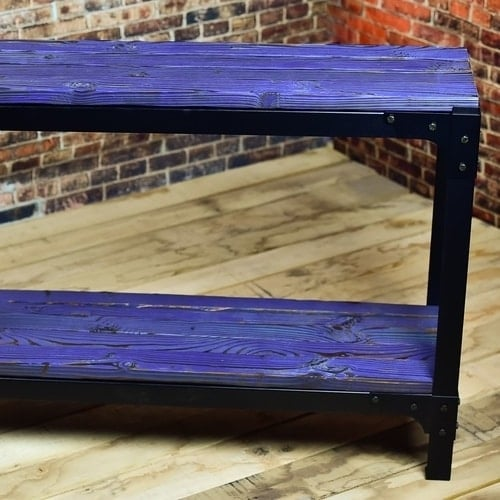 Purple large narrow console table