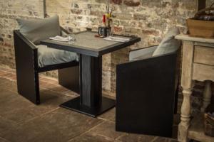 Bistro pedestal Table for inside