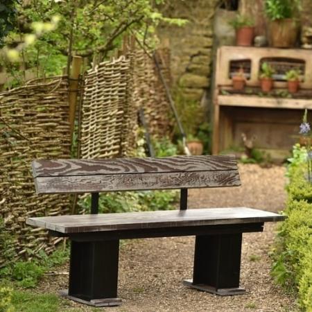 ironfire garden bench