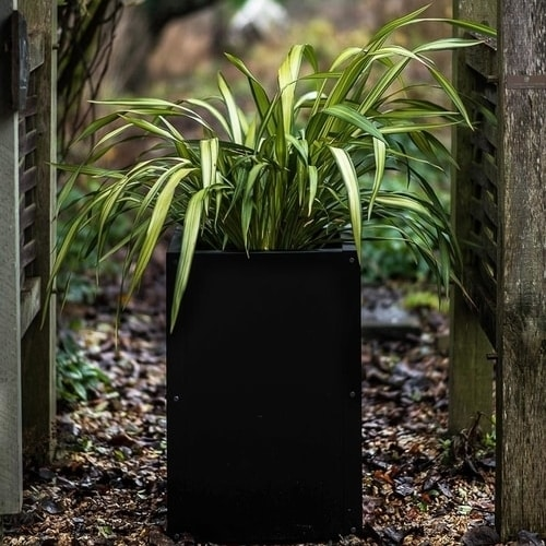 Industrial style steel planter for the garden or driveway