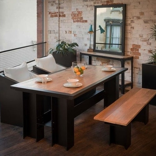 ironfire industrial dining table