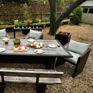 walled garden table