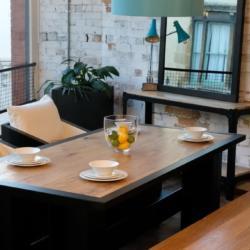 Ironfire oak dining table