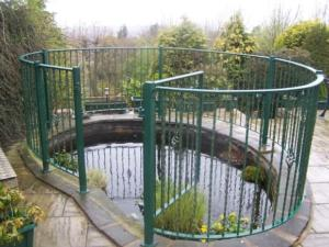 garden pond railings